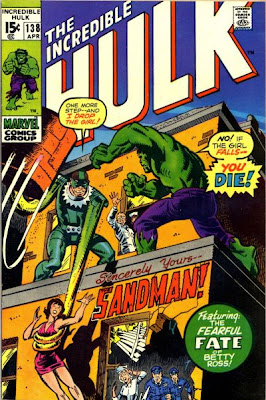 Incredible Hulk #138, The Sandman. Betty Ross turns to Glass