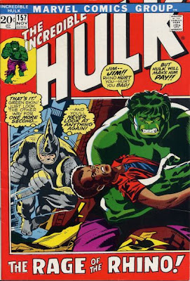 Incredible Hulk #157 The Leader and the Rhino