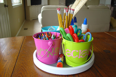 The Created Home Lazy Susan Craft School Supply Buckets