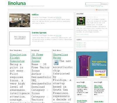 Linoluna Blogger Template