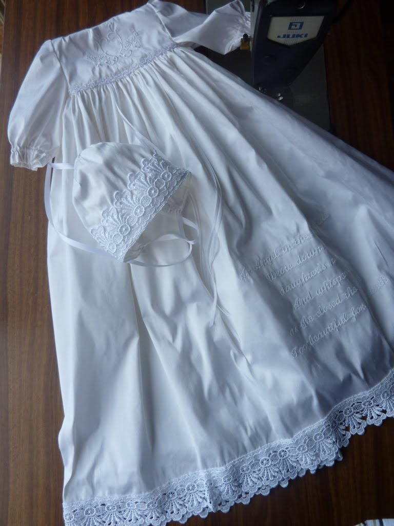 Unique Christening Gowns: Precious white angel gown
