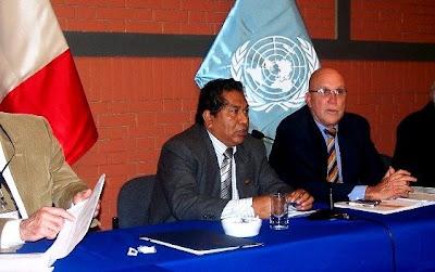 Remigio junto a su brazo político, el APRA a través del aprista trujillano Víctor León Álvarez