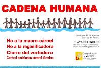 Cartel cadena humana en Playa del Inglés