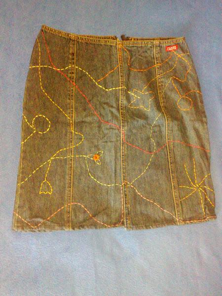 Fusta jeans, handmade.Marime 36.PRET 10 RON