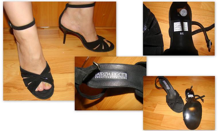 Sandale PATRIZIA RIGOTTI, noi, din piele,numarul 38, foarte frumoase si elegante.PRET 90 RON