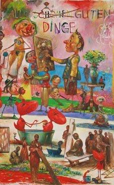 Zoppe Voskuhl - Alle schönen guten Dinge, 2009, Öl auf Leinwand, 195 x 120 cm