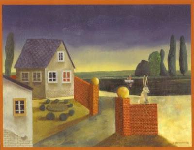 Günter Hofmann: Am Teich, Öl auf Hartfaser, 2008