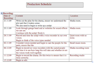 Hannah hussey btec radio for Radio schedule template