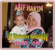 afif hakim 1st birthday GA