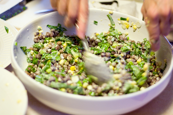 Fresh Corn Salad With Scallions And Basil Recipes — Dishmaps