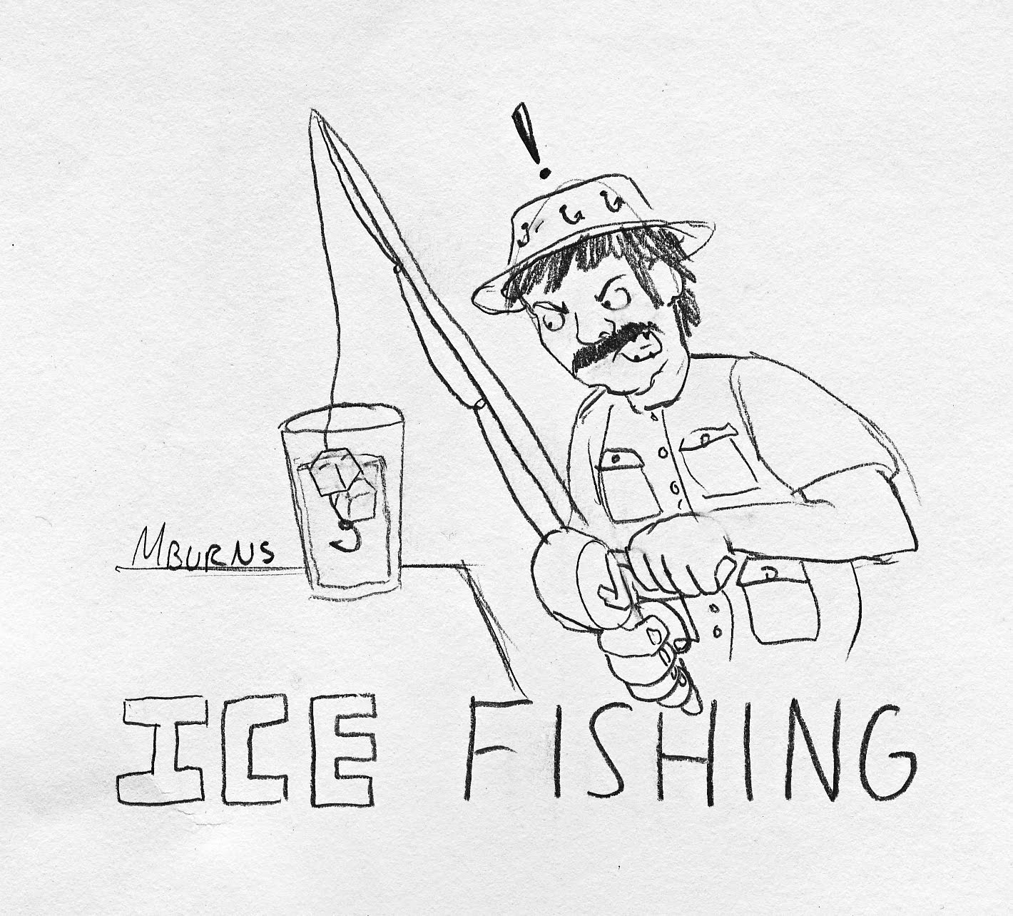 ice fishing drawings photo21