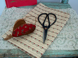1800's Civil War Fabric & Scissors/Repro