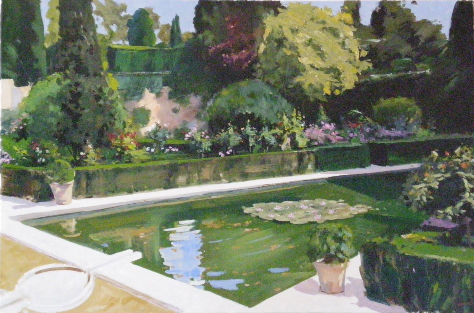 Pintor de la luz jardines generalife for Jardines generalife