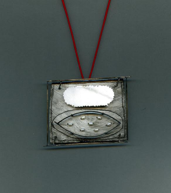 nº 1149 pendant 2007. silver, nickel silver, alabaster, pearl.