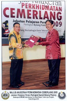 Penerima Anugerah Perkhidmatan Cemerlang 2009