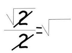 Akar dua dibagi dua berapa?