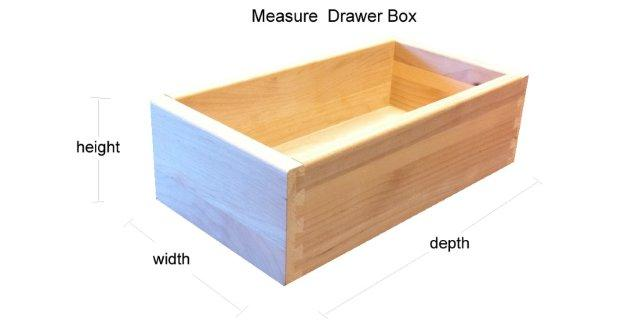 Measuring Drawer Boxes From The Cabinet Opening