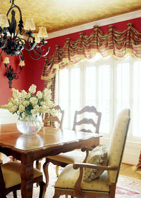 In This Vibrant Dining Room, A Curvy Valance Adds Height And Impact To The  Arched Windows. Instead Of An Expensive Arched Rod Or Curved Board, ...