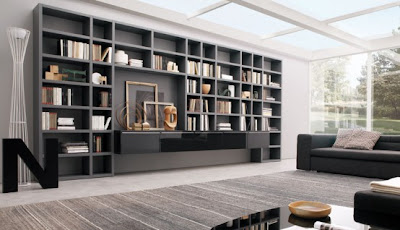 Site Blogspot  Living Room Storage Ideas on Modern Living Room Wall Units For Book Storage From Misuraemme