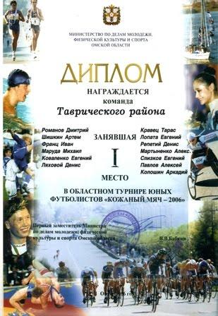 КОЖАНЫЙ МЯЧ. Омск - 2006.