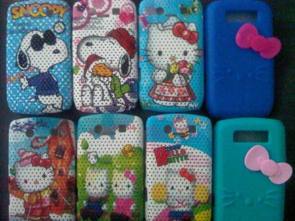 Aksesoris Unik: Silikon Handphone Gambar Hello Kitty dan Snoppy