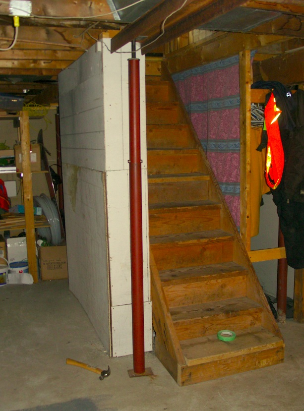 To Address The Paneling That Enclosed Our Unfinished Basement Stairs