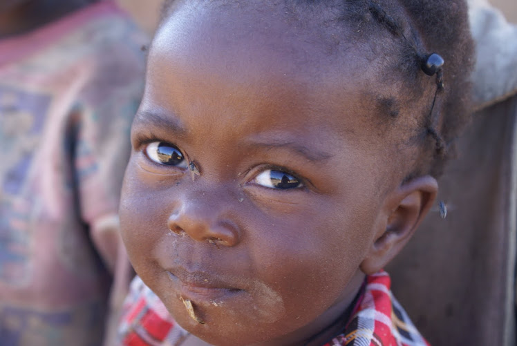 A girl from an orphanage in the bush