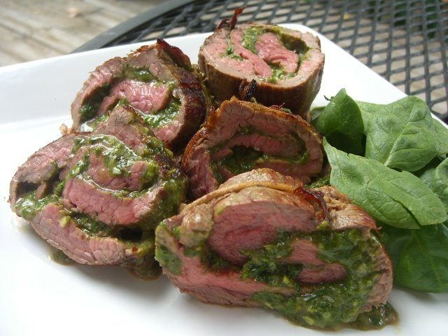 ... for a Year and Beyond: Spinach and Parmesan Stuffed Flank Steak