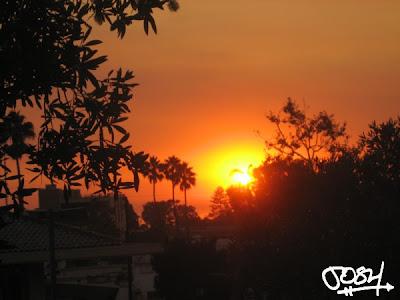 Sunset in La Jolla, California