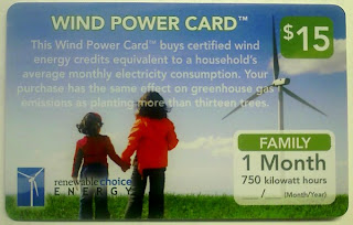 $15 renewable choice energy wind power card