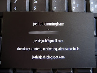New business card back