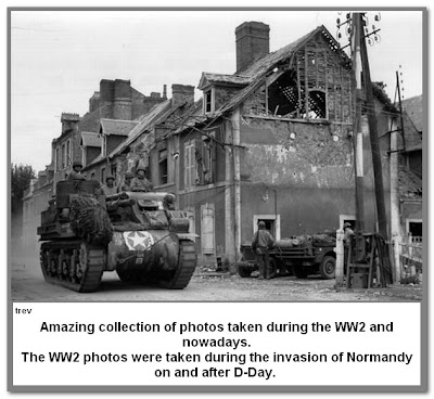 Normandy - Then & Now 2 of 4