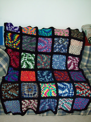 Crochet Afghan Pattern Variegated Yarn : Hook, Yarn, and Pattern: Variegated Granny Afghan