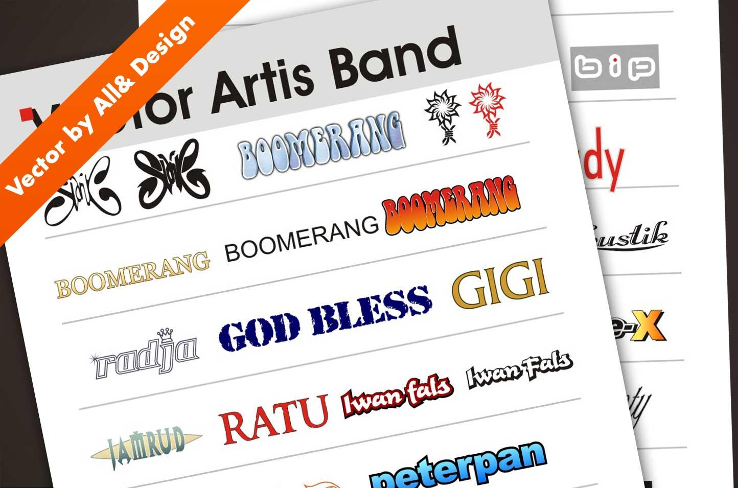 Artis Design Group : Vector group artis band indonesia