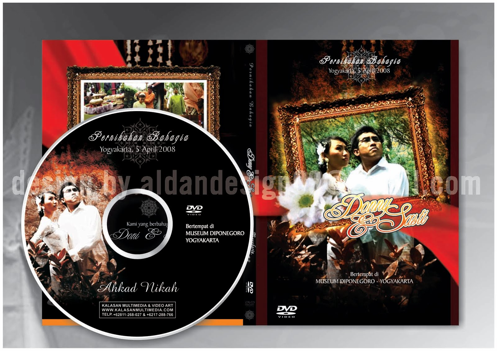 Desain Cover Wedding DVD #03