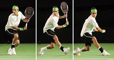 More pics photos on Roger Federer Backhand