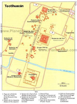 teotihuacan map pyramids tour city