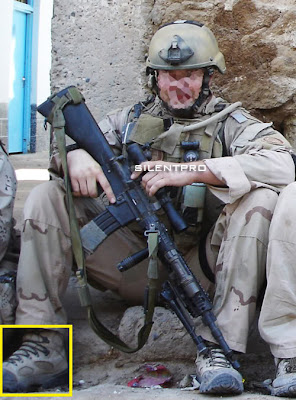 merrel shoe advertisement-US solder is seen wearing Merrel shoe in  Iraq