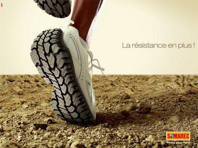 Somarec shoe ad slogan punchline