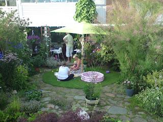 Kanske sveriges finaste radhusträdgård