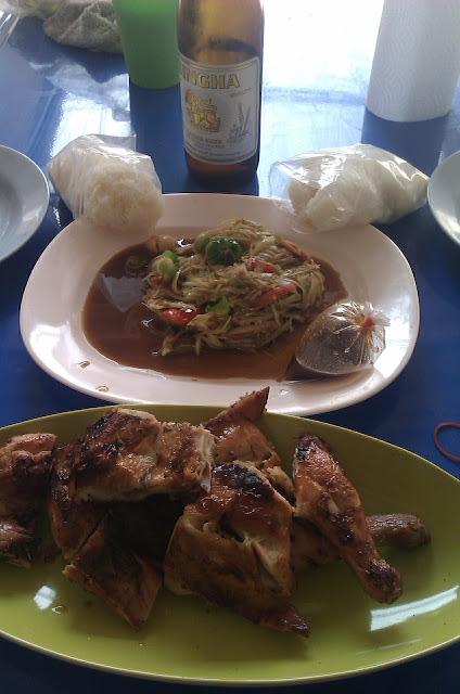 somtam, gai yaang, kho, thailand photos