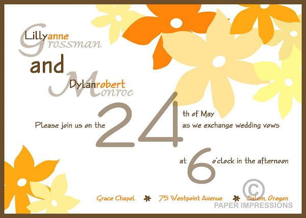 Day Dream Wedding Invitation