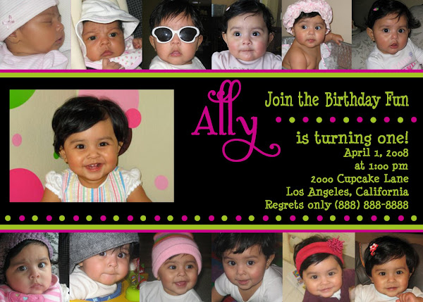 Baby's First Year Birthday Invitation