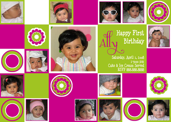 Blocks Birthday Invitation