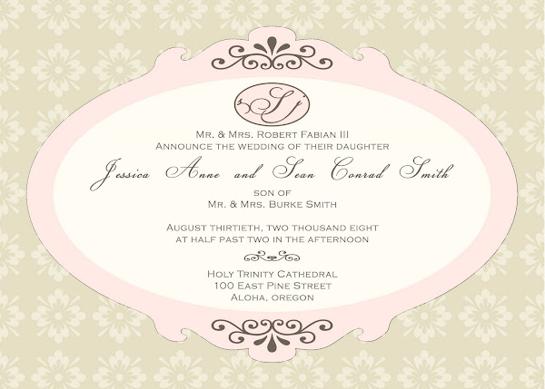 Vintage Romance Wedding Invitation