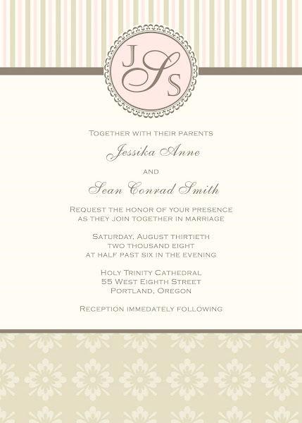 Vintage Glam Wedding Invitation
