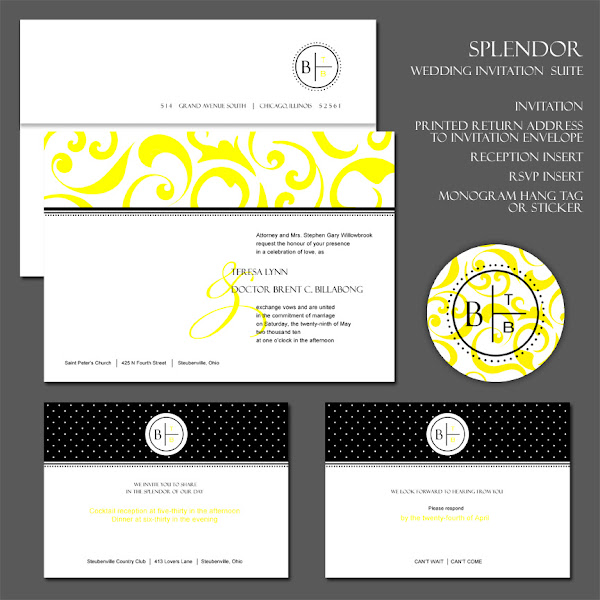 Splendor Wedding Invitation Suite