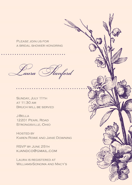 Vintage Romance Bridal Shower Invitation