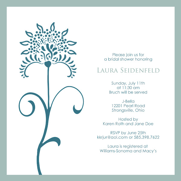 Intuition Bridal Shower Invitation