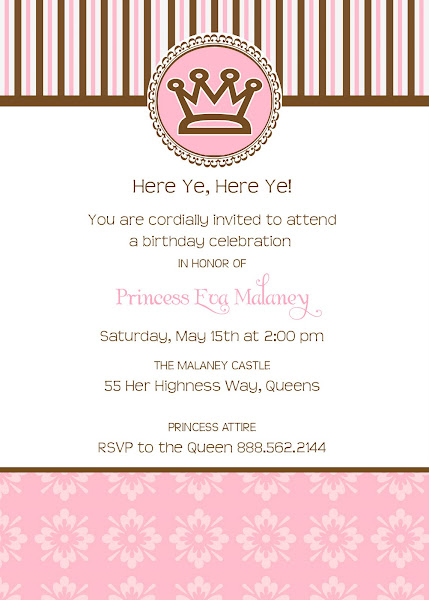 Here Ye Here Ye Birthday Invitation